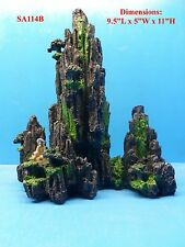 MOUNTAIN VIEW CAVE BRIDGE TREE FS114B AQUARIUM DECOR RESIN FISH TANK ORNAMENT