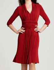 NWT $850 Red Dress Escada Authentic Jersey Braided Front Sz 36 / US 6