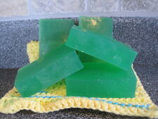 Homemade Glycerin Cucumber and Melon Shaving Soap