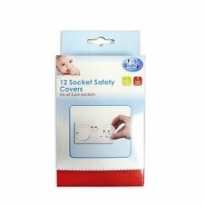 FIRST STEPS 12 SOCKET SAFETY COVERS HOME PLUG BABY CHILDREN PROOF EASY TO USE