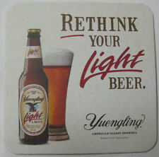 YUENGLING RETHINK YOUR LIGHT BEER Coaster, Mat, EAGLE Bottle Glass PENNSYLVANIA