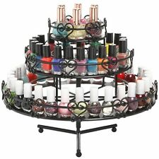 Tiered Nail Polish Bottle Rack Metal Display Stand Holder Beauty Organizer Shelf