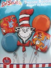Dr Seuss The Cat In The Hat Balloon Bouquet Birthday Decorations Party Supply