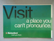 Avant Card #9369 2005 Heineken Meet You There Visit A Place You Can't Postcard
