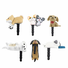Cute Puppy Dog 3.5mm Anti Dust Earphone Jack Plug Stopper Cap For Phone HR