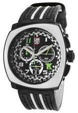 Luminox 1143 Men's Tony Kanaan Chronograph Black Genuine Leather and Dial