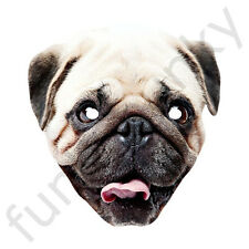 PUG Dog Celebrity Animal Card Face Mask - All Our Masks Are Pre-Cut!