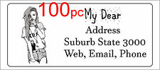 100 Personalised return address label adhesive custom sticky sticker 56x25mm
