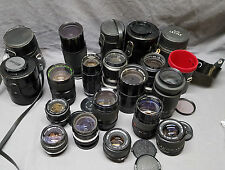 Huge lot camera lenses Tamron Olympus Canon Nikon Wollensak Lentar Zoom Macro