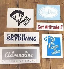 SKYDIVING DECALS x6 vinyl STICKER car parachute skydive adrenaline got altitude