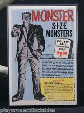 "Monster Size Monsters Comic Book Ad 2"" x 3"" Fridge / Locker Magnet. Frankenstein"