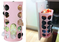 Wall-Mounted Plastic Recycle Bag Storage Carrier Container Kitchen Organizer Box