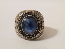 Signed Sterling Silver US Navy Ring Size 6.5