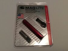 Solitaire MagLite Flashlight AAA Battery Red New in Package