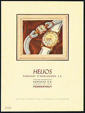 1940's Vintage 1946 Perfecta / Helios Watch Co. Mid Century Modern Art Print AD