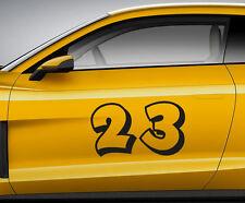 RACE NUMBERS toon 10. Custom car vinyl door sticker. Track trails transfer.