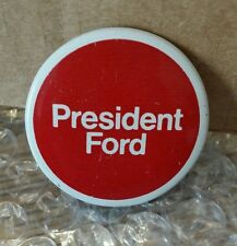 President Gerald Ford For President Red White Hat Lapel Pinback Button + Chase