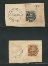 "Venezuela: 2 Pieces with Lindbergh and ""costes y Lebrix"" cancellation,...VE479*"