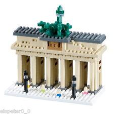 Brixies 200.043 - Brandenburgo puerta, 3d puzzle, mini bloques de creación 570 piezas