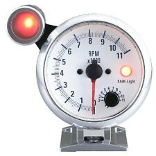 95mm 3 3/4 inches Tachometer 0-11000 RPM with outside shift light