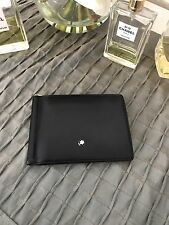 Mont Blanc Men's Black Wallet 6CC with Money Clip Used