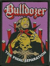 BULLDOZER-THE FINAL SEPARATION- WOVEN PATCH-super rare