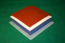 """3mm Red Solid Silicone Rubber Sheet 200mm x 200mm (8"""" x 8"""" Approx)"""