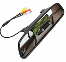 """HD 4.3"""" Mirror Monitor DVD Display Screen For SUV Front Rear View Reverse Camera"""