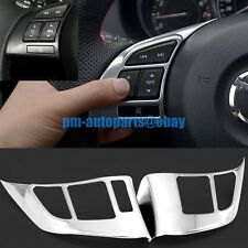 PM Matte Chrome Steering Wheel Audio Switch Control Cover Trims for Mazda CX-5