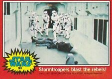 1977 Topps Star Wars Red #93 Stormtroopers Blast The Rebels!   A New Hope   Good