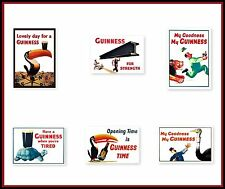 GUINNESS  SET  -  6 A4 Size Poster Prints - NOSTALGIC  RETRO SIGN - VINTAGE ART