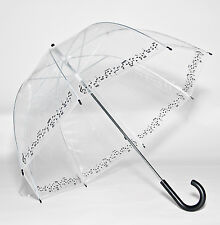 Musical Note Trim Clear Bubble Dome Rock & Roll Symphony Umbrella
