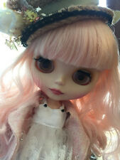 """12"""" Nude Blythe Doll from Factory pink wave long hair free shipping new sale hot"""