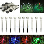 10 Outdoor Stainless Steel Color Changing / White LED Solar Landscape Path Light