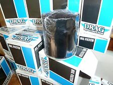 Genuine Drag Specialties Black Oil Filter for Harley-Davidson Models As Listed.