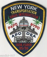 DEA Railroad Railway Police Drug Interdiction New York NY shoulder patch
