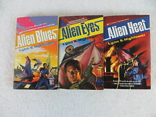 Lot of 3 Lynn Hightower ALIEN BLUES ALIEN EYES ALIEN HEAT Ace Science Fiction