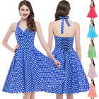 POLKA DOT CLASSIC 1950's Housewife Vintage Retro Swing Cocktail Dress
