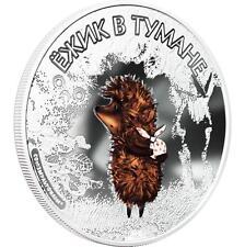 Cook Islands 2011 $5 Soyuzmultfilm - Hedgehog in the Fog 1 Oz Silver Proof Coin