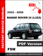 LAND ROVER RANGE ROVER III L322 2002 - 2006 FACTORY SERVICE REPAIR SHOP MANUAL