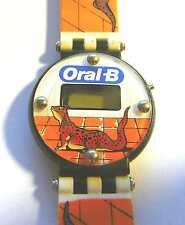 Dinosaurier Oral B  digitale Armbanduhr aus den 90er Jahren mit Dinos
