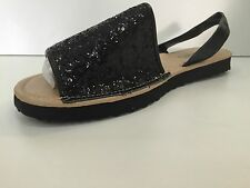 Black Glitter Ladies Flat Shoe Size 8 New