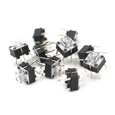 7mm height PCB mount illuminates Tactile switch with Blue LED, 6*6mm 10Pack