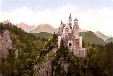 Neuschwanstein Castle Art Poster Germany 24x36