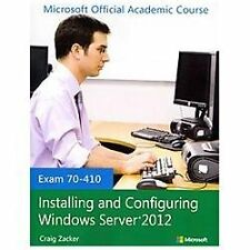 INSTALLING AND CONFIGURING WINDOWS SERVER 2012 [9 - CRAIG ZACKER (PAPERBACK) NEW