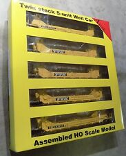 A-Line Twin Stack 5-unit Container Car HO 47601-10 TTX 63252 MIB