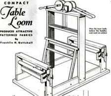 Make Build 4 Heddle Table Loom Weave Materials Article Plan Weaving Loom #50