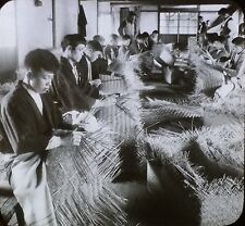 Bamboo Basket Factory, Yoshiwara (Tokyo) Japan, Magic Lantern Glass Photo Slide