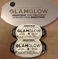GLAMGLOW Brightmud Eye Treatment for Dark Circles Tired Eyes Lines Plumping 2 pc
