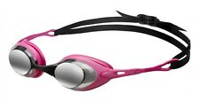 Quality Arena Cobra Mirror Swim/Race Goggles Made In Japan Smoke/Fuchsia/Black